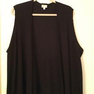 Lularoe longline Joy vest - Black